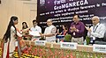 Narendra Singh Tomar presented the certificates to Barefoot Technicians, at the inauguration of the GeoMGNREGA workshop, in New Delhi (3).jpg