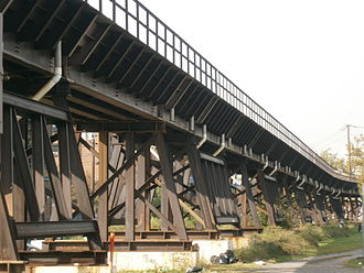 National Docks Secondary - Viaduct crossing Lower Jersey City