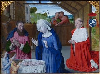 Nativity with Donor Portrait of Cardinal Rolin