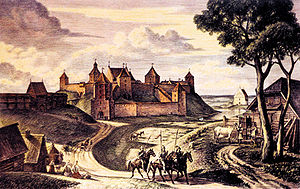 Navahrudak Castle - Image: Navahradak Rekanstrukcyja (Viktar Staščaniuk) 1