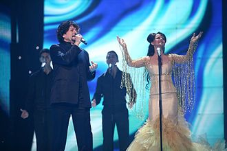 Albania in the Eurovision Song Contest - Image: Ndoci 2007 Eurovision