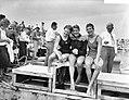 Nederlands kampioenschap zwemmen in Bad Groenoord te Schiedam, v.l.n.r. G. Beck, Bestanddeelnr 909-7723.jpg