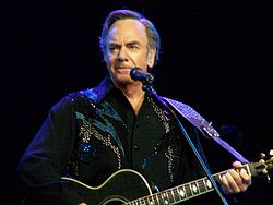 O cantaire, musico y compositor estatounitense Neil Diamond.