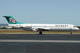 Network Aviation - Fokker 100 at Perth Airport