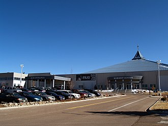 New Life Church (Colorado Springs, Colorado) - The south entrance and worship center.