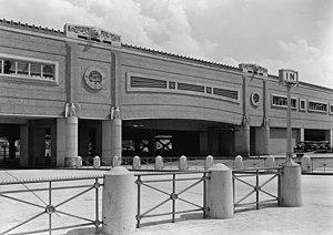 Pennsylvania Station (Newark) - 1935 photo of Market Street bridge