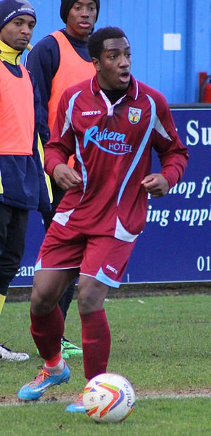 Niall Thompson (footballer, born 1993) - Thompson playing for Weymouth