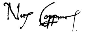 Unterschrift von Nikolaus Kopernikus