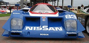 Nissan GTP ZX-Turbo - The large intakes on the front of the GTP ZX-Turbo. Brake cooling ducts are below the headlights.