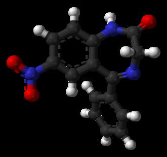 Nitrazepam - Image: Nitrazepam from xtal 3D balls