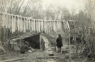 Nivkh people - A Nivkh village in the early-20th century