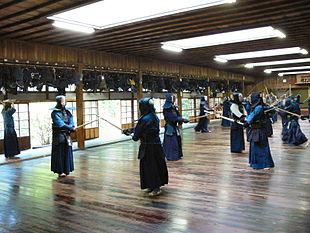 Un dojo in cui si pratica il kendō