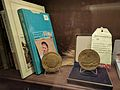 Norman Borlaug books and medals.jpg