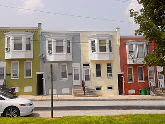 North York, Pennsylvania - Houses by the park