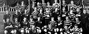 Northampton Saints - The Northampton Saints posing with The Original All Blacks in 1905