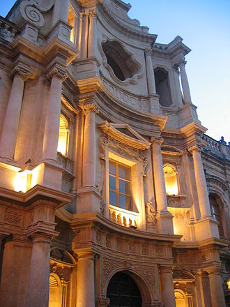 Noto - The church of St. Charles Borromeo.