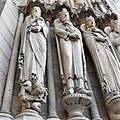 Notre Dame Cathedral statues at Entrance.jpg