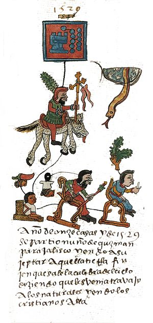Nuño de Guzmán - Nuño Beltrán de Guzmán as depicted in the Codex Telleriano-Remensis