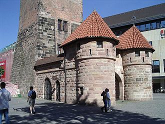 Barbican - The barbican of the White Tower in Nuremberg (reconstruction)