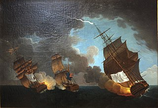 Battle between the French frigates \