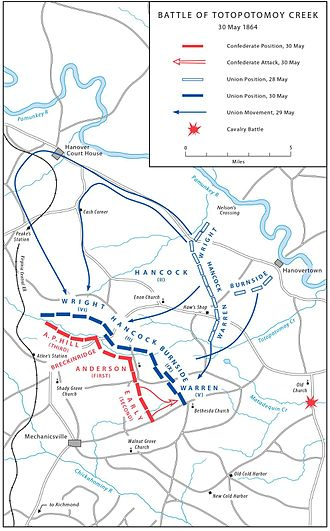 Overland Campaign - Battle of Totopotomoy Creek, May 30, 1864