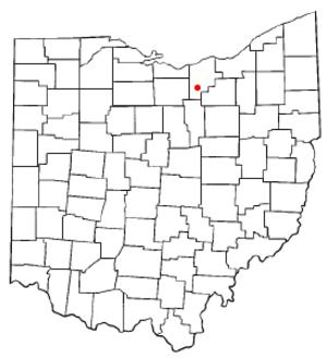 Wellington, Ohio - Image: OH Map doton Wellington