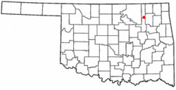 Location of Vera, Oklahoma