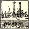 Obelisk of Theodosius, the Serpent Column, Column of Constantine - André Thevet, Constantinople, 1556.jpg