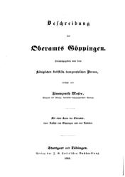 Beschreibung des Oberamts Göppingen