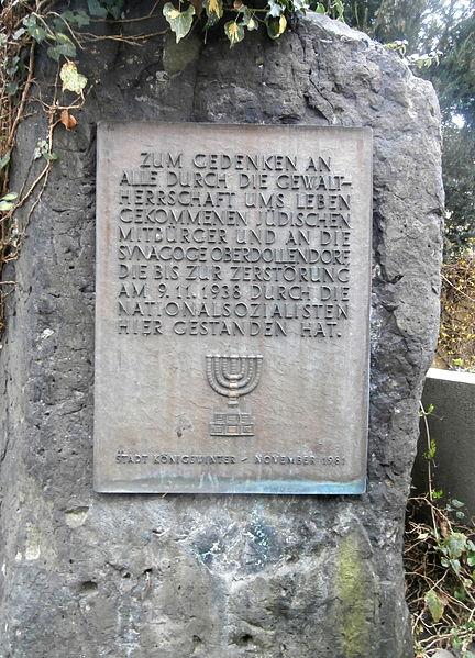 File:Oberdollendorf Heisterbacher Straße Gedenktafel Synagoge.jpg