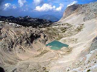 Eissee lake in Upper Austria, Austria