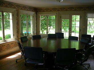 Classroom - A classroom designed for dialogue at Shimer College