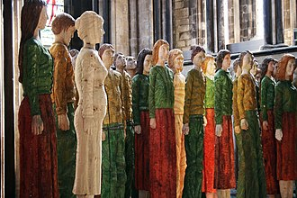 Robert Koenig (sculptor) - Odyssey crowd, Worcester Cathedral, August 2009