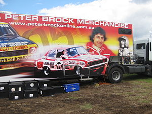 1972 Hardie-Ferodo 500 - The Official Peter Brock Merchandise Truck features an image of the 1972 Hardie-Ferodo 500 winning Holden Torana