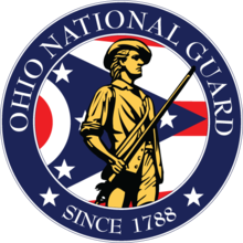 The emblem of the Ohio National Guard