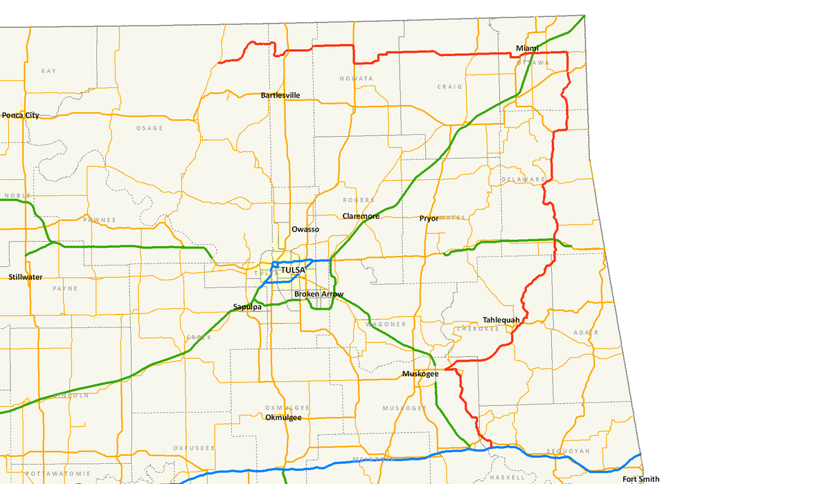 Oklahoma State Highway Wikipedia - Oklahoma highway map