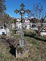 Old cemetery, wrought iron cross, INRI, 2020 Szob.jpg
