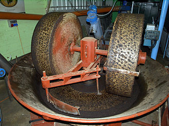 Millstone - Millstones used in a grinder for olive oil extraction
