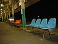 Omigawa train station seats.jpg