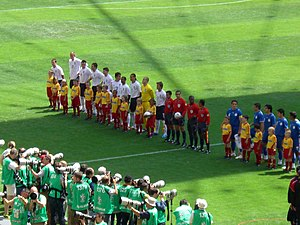 History of the Paraguay national football team - Paraguay during the line-up against England at the 2006 FIFA World Cup