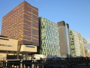 Paddington Waterside - One and Three Kingdom Street from the south.