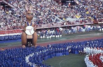 Matilda (mascot) - Matilda during the 1982 Commonwealth Games opening ceremony