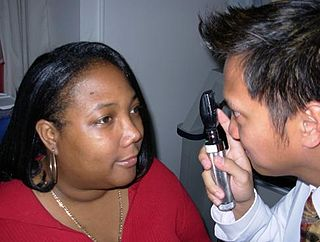 Ophthalmoscopy test that allows a health professional to see inside the fundus of the eye and other structures using an ophthalmoscope, crucial in determining the health of the retina, optic disc, and vitreous humor