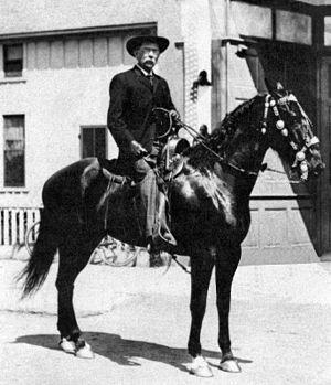 Orange County Sheriff's Department (California) - Orange County Sheriff Theo Lacy on horseback, 1890s