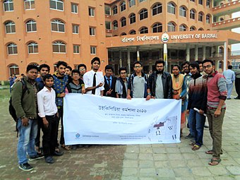 Organizers & Participants - Bangla Wikipedia Workshop at University of Barisal, 2016 (8).JPG