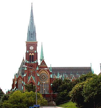 Helgo Zettervall - Oscar Fredrik Church in Gothenburg was erected in the 1890s
