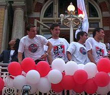 Sneijder (primo da sinistra) ai tempi dell'Ajax, con Urby Emanuelson, Zden?k Grygera e John Heitinga