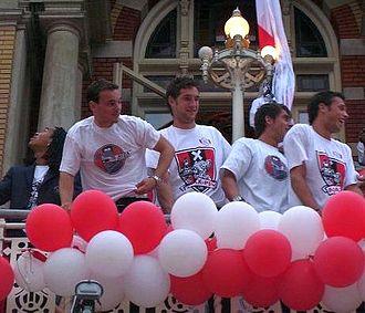 John Heitinga - Heitinga (right, with Urby Emanuelson, Wesley Sneijder, Maarten Stekelenburg, and Zdeněk Grygera) played for Ajax from 2001–2008.