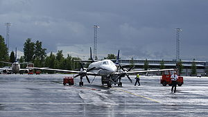 North Flying - Fairchild Metroliner in Air Norway livery at Oslo Airport, Gardermoen
