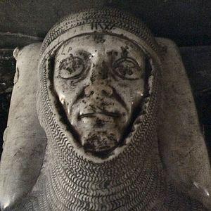 Otton de Grandson - Detail of the tomb effigy of Otton de Grandson in the cathedral of Lausanne